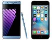Ko je brži Samsung Galaxy Note 7 ili Apple iPhone 6s?