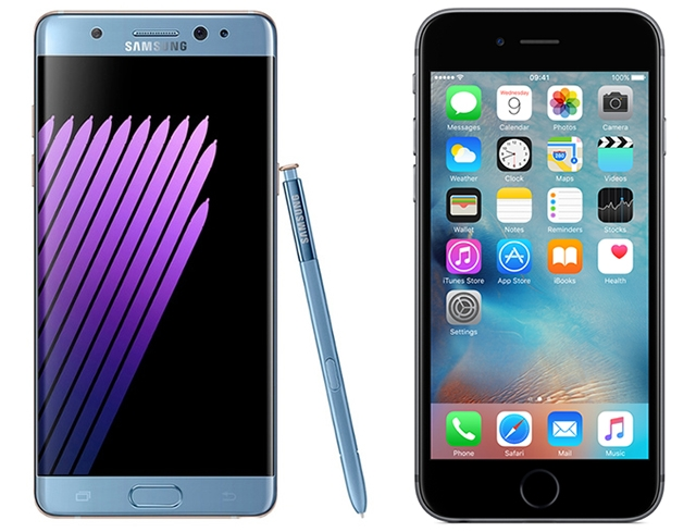 Ko je brži Samsung Galaxy Note 7 ili Apple iPhone 6s?