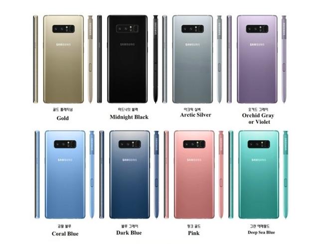 Samsung Galaxy Note 8 dolazi u 8 boja?